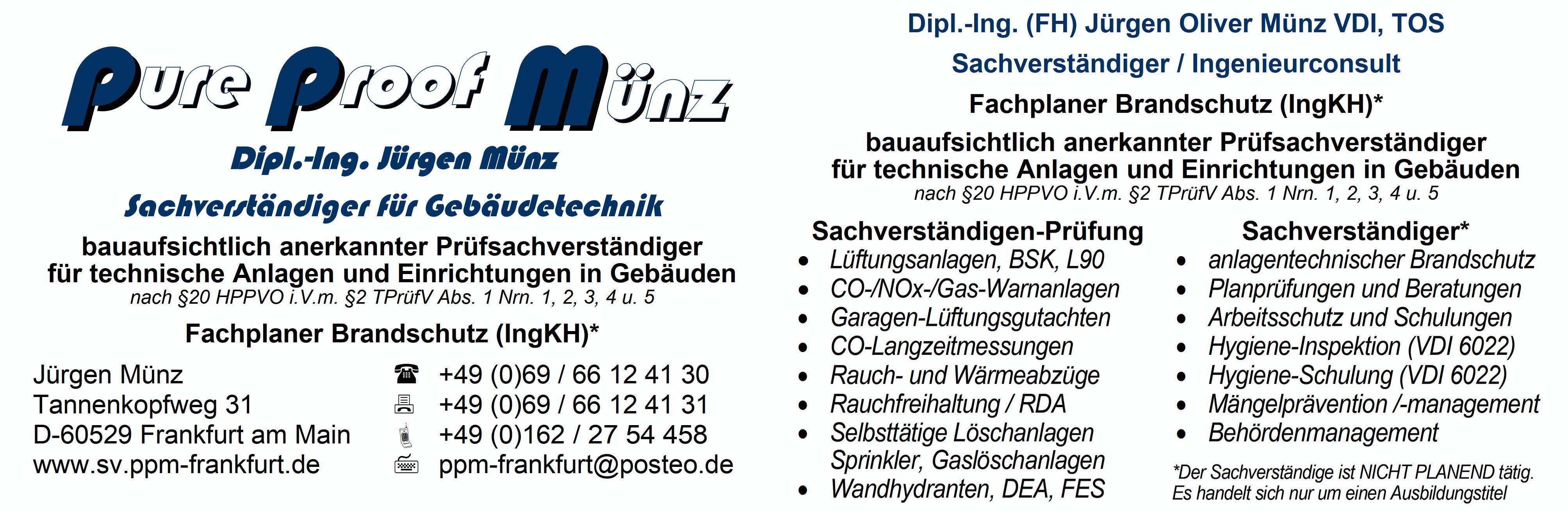ppm pure proof münz Dipl Ing Jürgen Münz Sachverständiger